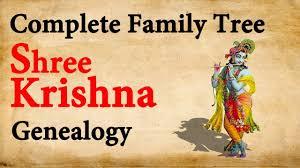 Mahabharata Family Tree Chart Pdf In Hindi Lord Krishna Complete Family Tree Genealogy Father Side Single Chain 68 Generations