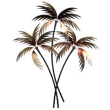 palm tree wall art plaque decor