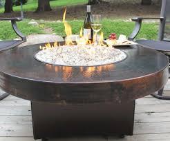 outdoor fire pit glass chips elegant fetching landmann seneca gas table fire pit diy table