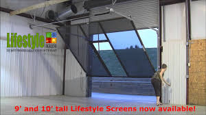 garage door screens retractableLifestyle Screens Adds 9H and 10H Garage Door Screen  YouTube