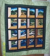 111 best Quilts with Center Panel images on Pinterest | Quilt ... & Attic Window using a panel. Great idea to liven up a panel. Cathedral  Window QuiltsAttic ... Adamdwight.com