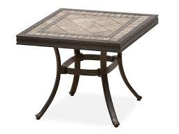 excellent ideas tile top patio dining table 2787091 cordoba sling aluminum patio furniture