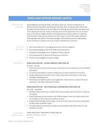 Banking Loan Resume Loan Officer Assistant Resume Sample Top 8