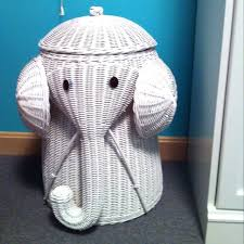 wicker elephant hamper image of rattan elephant hamper white rattan elephant  hamper grey uk . wicker elephant hamper ...