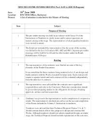 Secretary Minutes Outline Club Format Sample Crevis Co