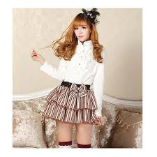 Quality Vintage Lolita Short Skirts Summer Women Princess Sweet Coffee  Stripe Elastic Waist Female Fashion Bottoms With Bowtie|skirt bow|skirt  boutiqueskirt boning - AliExpress