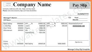 Download Payslip Template Adorable Printable Employee Salary Slip Format Template Excel Download