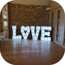 Giant Light Up Letters Light Up Letter Hire Gloucestershire Giant Initials