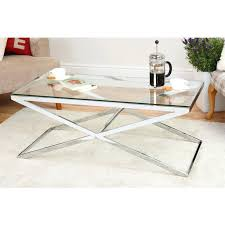 round glass and chrome coffee table uk stand top