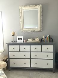 IKEA hack project with the all white hemnes dresser. Painted parts ...