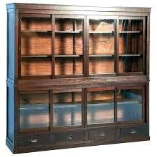 antique glass front bookcase bookcases bookshelves door shelf oak f