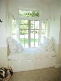 Extraordinary Pictures Of Window Seat Decoration Design Ideas : Good  Looking White Cushion Bay Window Seat