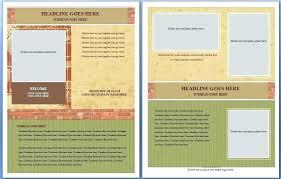 Microsoft Templates Brochure Free Word Template Brochure Ms