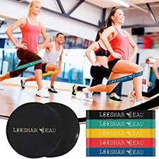 gliding discs and 3 resistance bands from borchent fitness equipment for home for intense