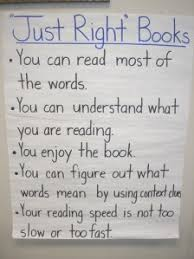 Just Right Book Chart Rethinking What Makes A Just Right Book Just Right To
