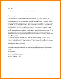 Personal Recommendation Letter Sample Personal Recommendation Letter Letter Trakore Document Templates 17