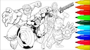 Disney colors princess coloring coloring pages marvel drawings princess coloring pages hulk coloring pages marvel coloring avengers coloring pages. The Avengers Coloring Pages Coloring Painting Avengers Captain America Iron Man Hulk Thor Youtube