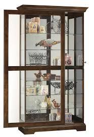 howard miller cherry large curio display cabinet sliding sliding door display cabinet