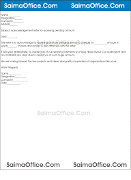 Acknowledgement Letter Receiving Payment Resume Pdf Download