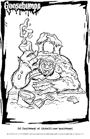 Small Picture Goosbumps Coloring Pages