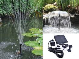 water fountain solar powered pump kit