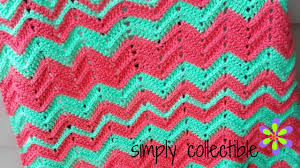 Double Crochet Chevron Pattern Impressive Crochet Blanket Pattern Chevron Flare Comes In Baby To King Size