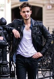 men s black leather biker jacket blue denim shirt white crew neck t shirt charcoal jeans men s fashion lookastic com