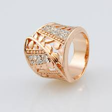 rose gold fashion costume ring whole