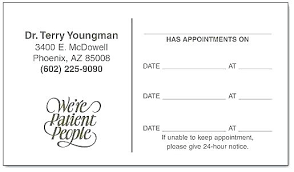 Appointment Cards Template Word Appointment Reminder Template Word