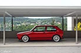 Red Mk1 2 Door Bbs Volkswagen Golf Mk2 Volkswagen Volkswagen Golf Mk1