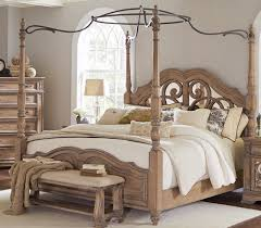 Ilana Antique Linen California King Size Canopy Bed 205071KW | Savvy ...
