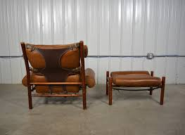inka leather lounge chair and ottoman by arne norell at stdibs