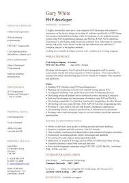 Php Programmer Resume Sample