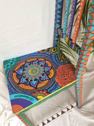 brightly painted furniture. Upcycled Mandala Wooden Chair, Furniture, Colourful Painted Chair By Lickembysmiling On Etsy Https Brightly Furniture