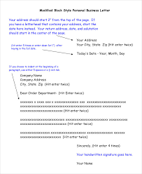 Block Style Letter Format Template Format Of A Block Style Letter