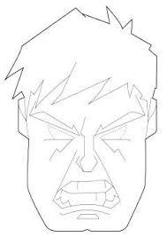 Maschera Di Hulk Da Stampare E Colorare Maschera Maschere Hulk