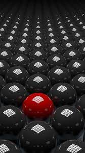 3d abstract red and black balls 4k hd ...