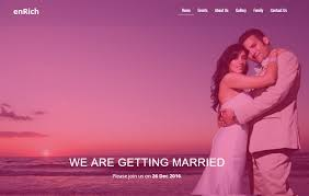 Free Wedding Website Templates