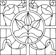 Spring Stained Glass Coloring Pages With Free Printable Coloring