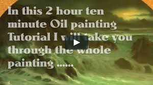 watch round seascape 1 oil painting tutorial by alan kingwell vimeo on demand on vimeo