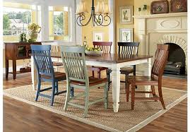 cottage dining room tables. I Like The Different Color Chairs Cindy Crawford Home California Interesting Cottage Dining Table And 18 Room Tables