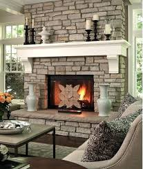 white painted fireplace mantel family room contemporary