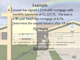 example formula solution joseph has signed a 144 000 mortgage with