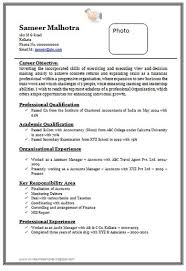 Resume Format For Accountant Freshers Resume Template Sample