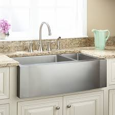 33 ackerman 70 30 offset double bowl stainless steel farmhouse sink for 33 inch