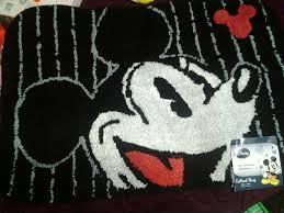 disney mickey mouse bathroom rug bath mat tufted couk