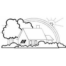 3 Incredible House Coloring Page Ngbasiccom