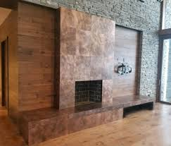 copper z clipped wall panels
