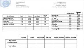 Free Paystub Templates Gorgeous Download Free 48 Free Pay Stub Templates Downloads Word Excel Pdf