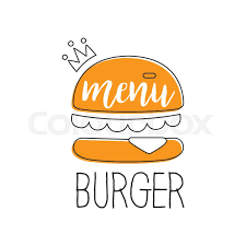 fast food restaurant logos crown. Unique Crown Orange Burger With Crown Premium Quality Fast Food Street Cafe Menu  Promotion Sign In Simple Hand Drawn Design Vector Illustration And Restaurant Logos D